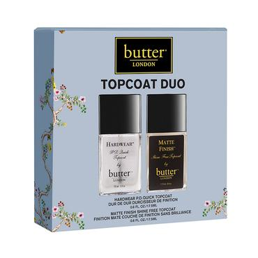 Topcoat Duo | butter LONDON | b-glowing