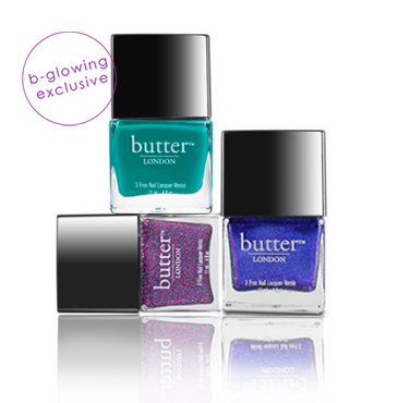 bCREATIVE Nail Polish Trio | butter LONDON | b-glowing