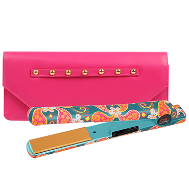 "Retro Blossom Classic Tourmaline Ceramic Flat Iron 1""- Limited Edition 