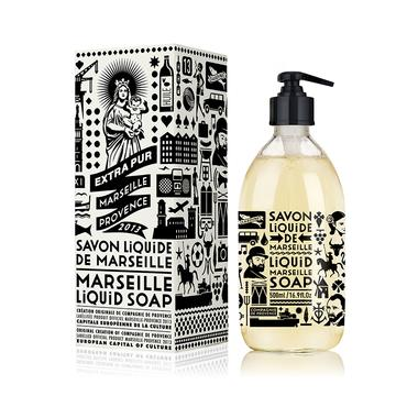 Black and White Limited Edition Liquid Marseille Soap | Compagnie de Provence | b-glowing