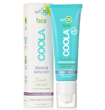 Mineral Face SPF 30 Matte Cucumber | COOLA | b-glowing