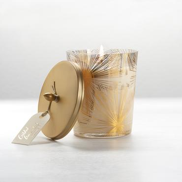 Gilded Amberleaf Large Harlow Candle | Illume | b-glowing