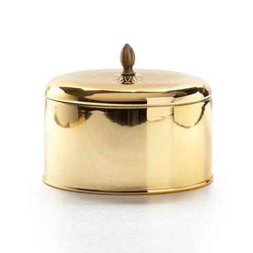 Gilded Amberleaf Metallic Knob Tin | Illume | b-glowing