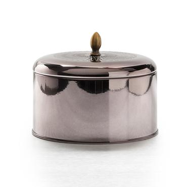 Woodfire Metallic Knob Tin | Illume | b-glowing