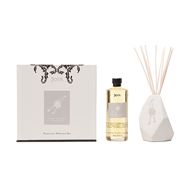 Pomegranate, Laurel & White Pepper Diffuser Set | JOYA | b-glowing