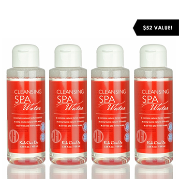Cleansing Spa Water and Pure Cotton Value Set