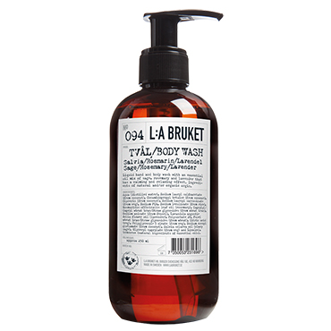 No.94 Body Wash Sage/Rosemary/Lavender | L:A Bruket | b-glowing