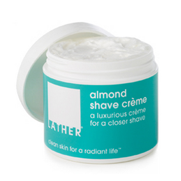 almond shave crème | LATHER | b-glowing