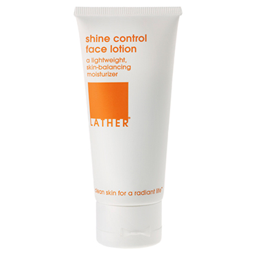shine control face lotion | LATHER | b-glowing