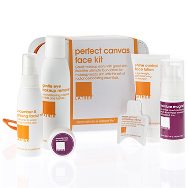 perfect canvas face kit | LATHER | b-glowing