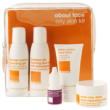 about face oily skin kit | LATHER | b-glowing