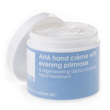 AHA hand crème with evening primrose | LATHER | b-glowing