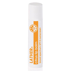 lip protector SPF 15 - citrus | LATHER | b-glowing