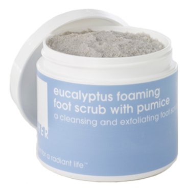 eucalyptus foaming foot scrub with pumice | LATHER | b-glowing