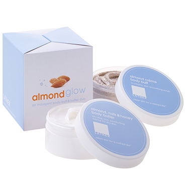 almond glow body buff and body butter duo