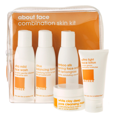 about face combination skin kit | LATHER | b-glowing