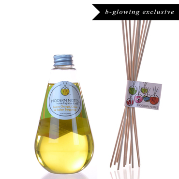 Sweet Orange, Clove, Italian Bergamot Diffuser & Reed Set | MODERN NOTES | b-glowing