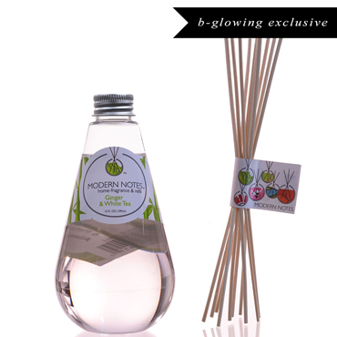 Ginger & White Tea Diffuser & Reed Set | MODERN NOTES | b-glowing