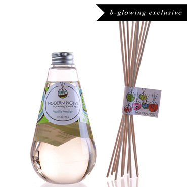 Vanilla Amber Diffuser & Reed Set | MODERN NOTES | b-glowing