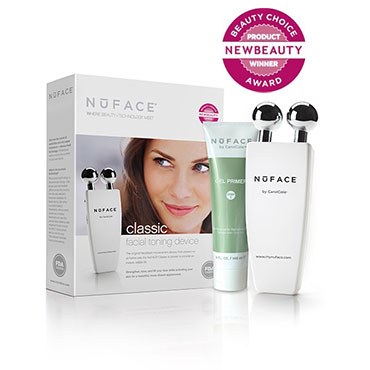 Classic Facial Toning Device - White | NuFACE | b-glowing