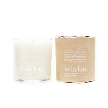 Leila Lou Soy Candle | By Rosie Jane | b-glowing