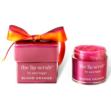Limited Edition Blood Orange Lip Scrub | Sara Happ | b-glowing