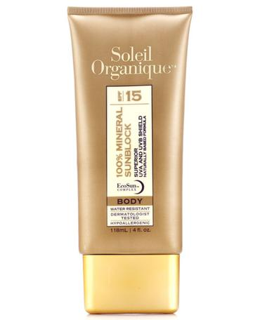 100% Mineral Sunblock for Body SPF 15