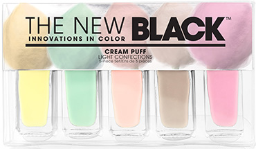 Cream Puff - 5-Piece Pastel Nail Polish Set