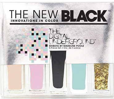 Shibuya - 5-Piece Nail Polish Set | The New Black | b-glowing