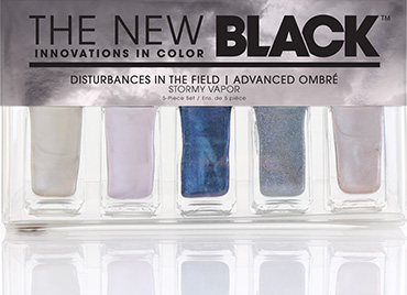 Stormy Vapor - Advance Ombre 5-Piece Nail Polish Set | The New Black | b-glowing