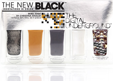 Rebel Edge - 5-Piece Nail Polish Set | The New Black | b-glowing