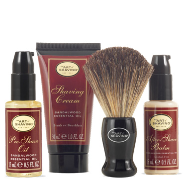 The 4 Elements Starter Mini Kit - Sandalwood | The Art of Shaving | b-glowing