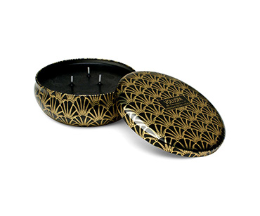 Seasons Makassar Ebony & Peach 3 Wick Candle Tin