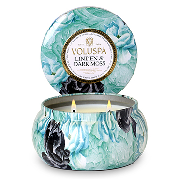 Linden & Dark Moss 2 Wick Maison Metallo Candle