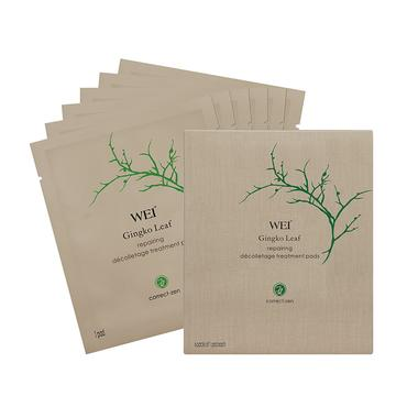 Gingko Leaf Repairing Decolletage Treatment Pads | WEI | b-glowing