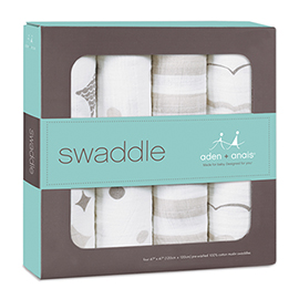 Classic Swaddle 4 Pack | aden + anais | b-glowing
