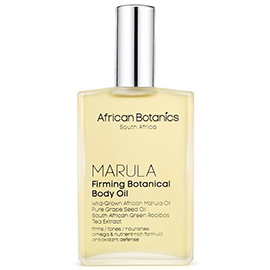 Marula Firming Botanical Body Oil | African Botanics | b-glowing