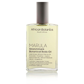 Marula Stretchmark Botanical Body Oil | African Botanics | b-glowing