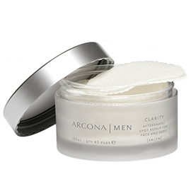 Men's Clarity Aftershave Pads | ARCONA | b-glowing