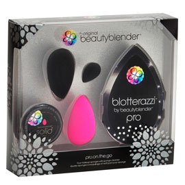 pro on the go- black tie kit | beautyblender | b-glowing