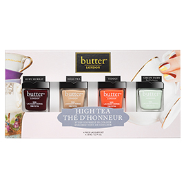 Limited Edition High Tea Collection 4 Piece Lacquer Set | butter LONDON | b-glowing