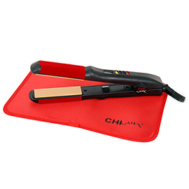 Black Turbo Digital Microchip Ceramic Hairstyling Iron 1""