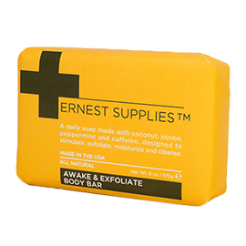 Awaken & Exfoliate Body Bar Soap | Ernest Supplies | b-glowing