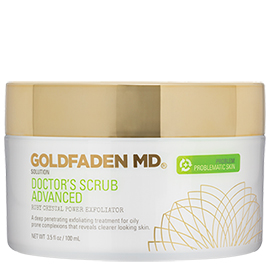 Doctor's Scrub Advanced - Ruby Crystal Power Exfoliator | Goldfaden MD | b-glowing