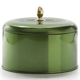 Balsam and Cedar Metallic Knob Tin