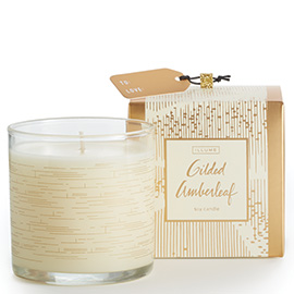 Gilded Amberleaf Demi Boxed Glass Candle