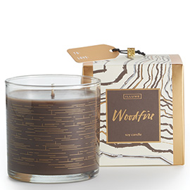 Woodfire Demi Boxed Glass Candle