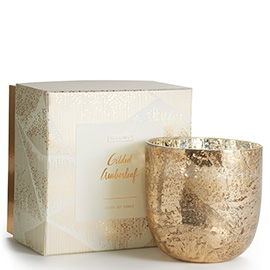 Gilded Amberleaf Luxe Sanded Mercury Glass Candle