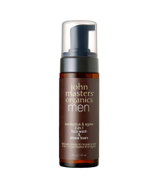 Eucalyptus & Agave 2-in-1 Face Wash & Shave Foam | John Masters Organics | b-glowing