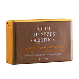 Orange & Ginseng Exfoliating Body Bar | John Masters Organics | b-glowing
